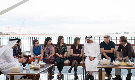 His Highness Sheikh Mohamed bin Zayed receives Dr. Kennedy's family