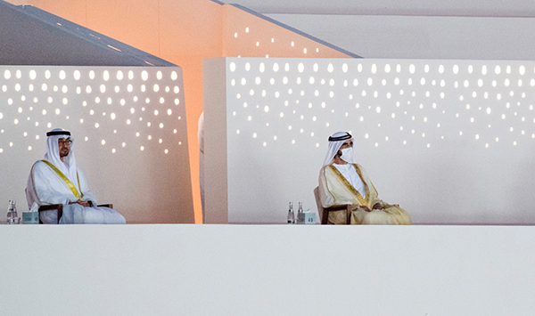 His Highness Sheikh Mohammed bin Rashid,His Highness Sheikh Mohammed bin Zayed, Rulers of Emirates attend 49th National Day celebrations