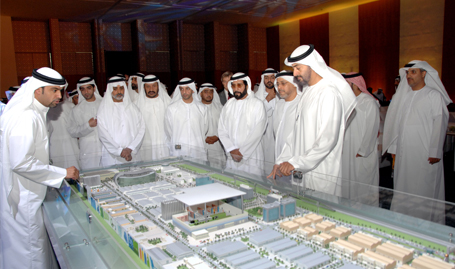 His Highness Sheikh Tahnoon bin Muhammad with His Highness Sheikh Mohammed bin Zayed